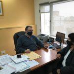Hermida recibió a la jefa comunal de Cerro Centinela